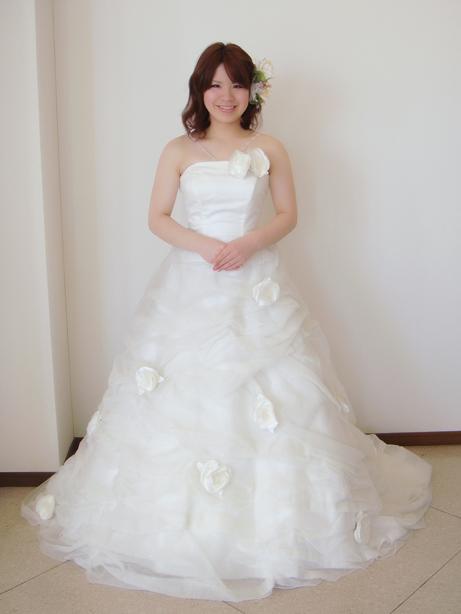 もこもこチュールのウェディングドレス!
